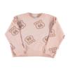 PIUPIUCHICK Piupiuchick Sweatshirt   Pale Pink w/ route 66 allover