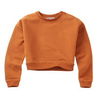Mingo Cropped Sweater Dark Ginger