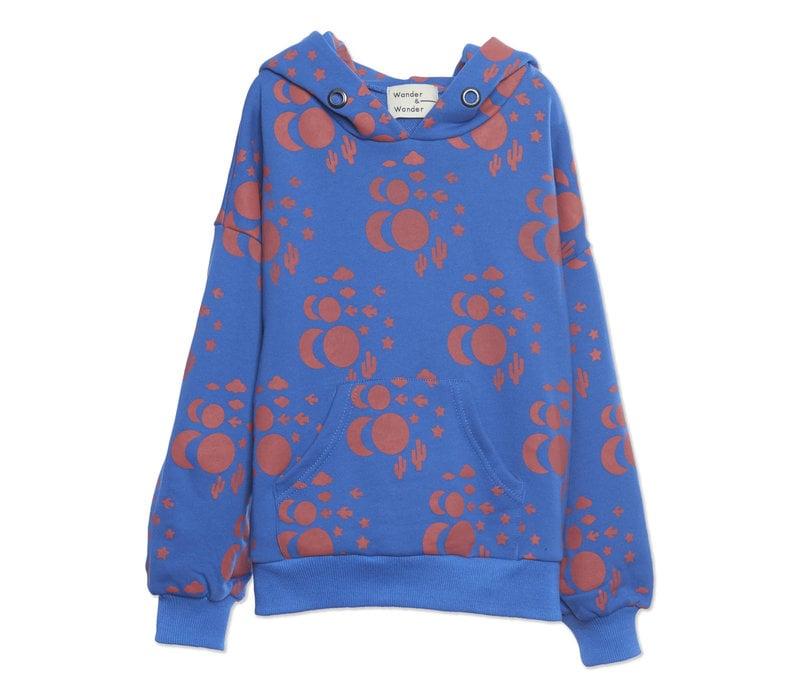 Wander & Wonder Hoodie Sweatshirt Blue Cosmic