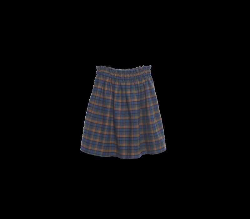 Wander & Wonder Gathered Skirt mist plaid