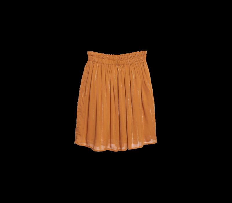 Wander & Wonder Gathered Skirt Turmeric Lurex