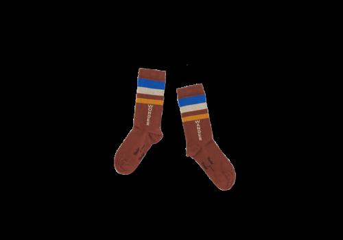 Wander & Wonder Wander & Wonder Stripe Socks Brown