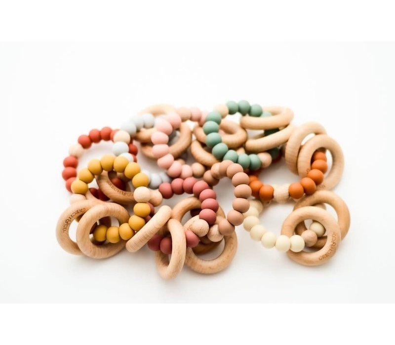 Grech & Co Ring + Rattle Golden