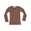 Blossom Kids Blossom Kids Long sleeve rib henley Smoked Hazelnut