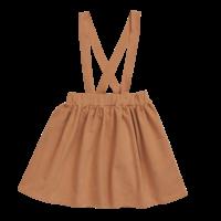 Blossom Kids Suspender Skirt Caramel Fudge