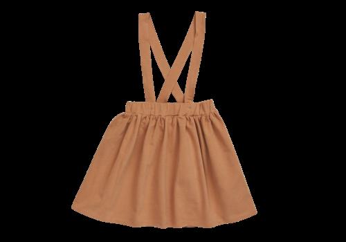 Blossom Kids Blossom Kids Suspender Skirt Caramel Fudge