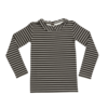Blossom Kids Blossom Kids Peterpan Long sleeve Petit Stripes Espresso Black