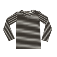 Blossom Kids Peterpan Long sleeve Petit Stripes Espresso Black