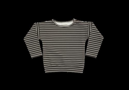 Blossom Kids Blossom Kids Long sleeve Petit Stripes Espresso Black