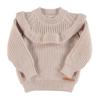 PIUPIUCHICK Piupiuchick Knitted Sweater w/Frills   Pale Pink