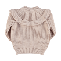 Piupiuchick Knitted Sweater w/Frills   Pale Pink