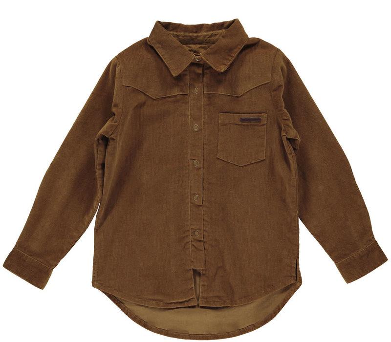 MarMar Copenhagen_Theo shirt LS_Leather