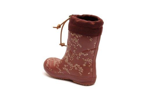 Soft Gallery Bisgaard Rubber Boot Apple Butter AOP Flowerdust