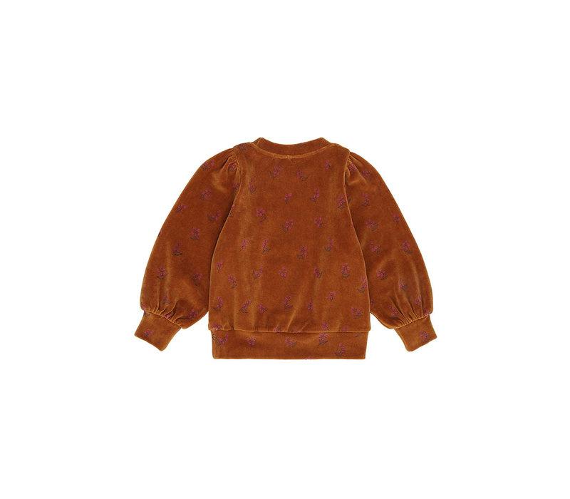 Soft Gallery Era Sweatshirt Thai Curry AOP Rosehibs