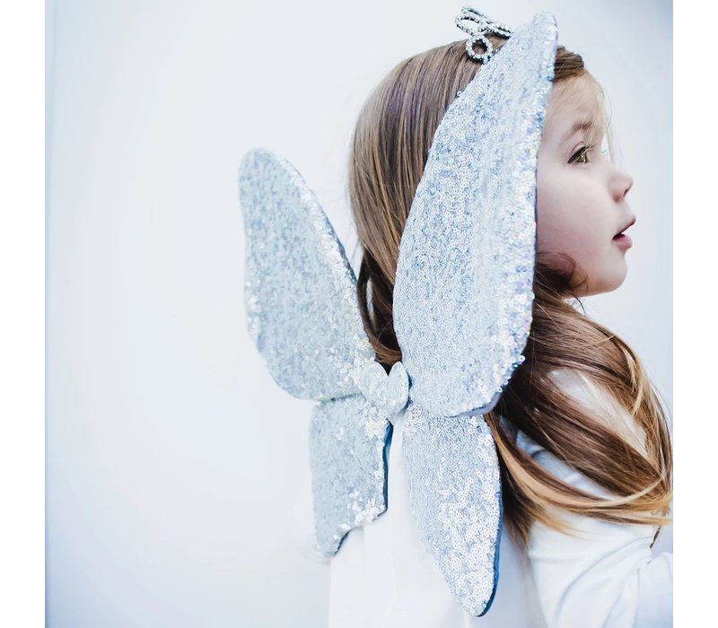 MIMI & LULA Sparkle Sequin Wings Silver