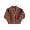 PIUPIUCHICK Piupiuchick Knitted v-neck Jacket | Pecan nut w/ embroidery