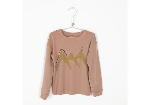 Lötiekids Lotiekids Rib Tshirt _ How to Climb_Warm Pink