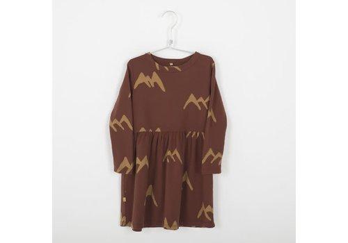 Lötiekids Lotiekids Dress _ Mountains_Rust Brown