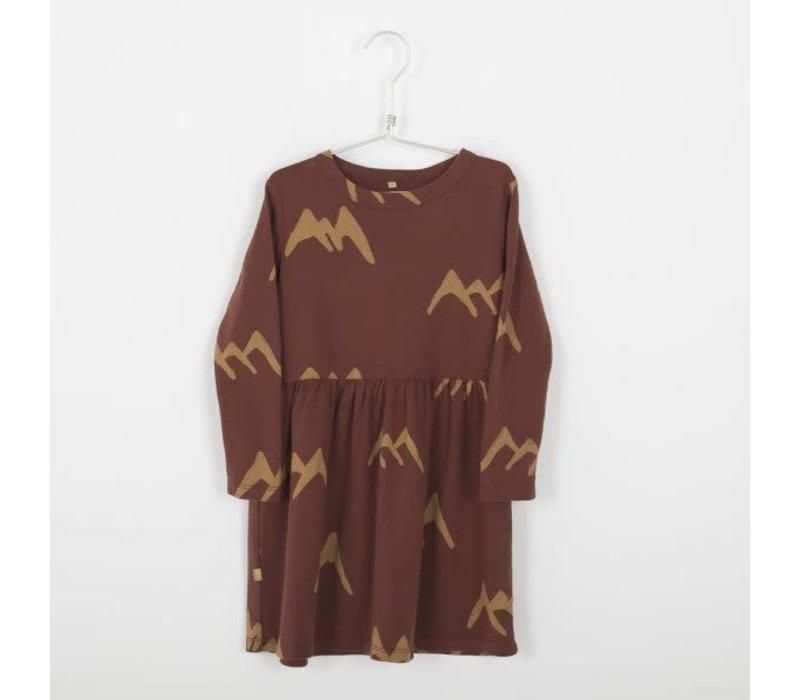 Lotiekids Dress _ Mountains_Rust Brown