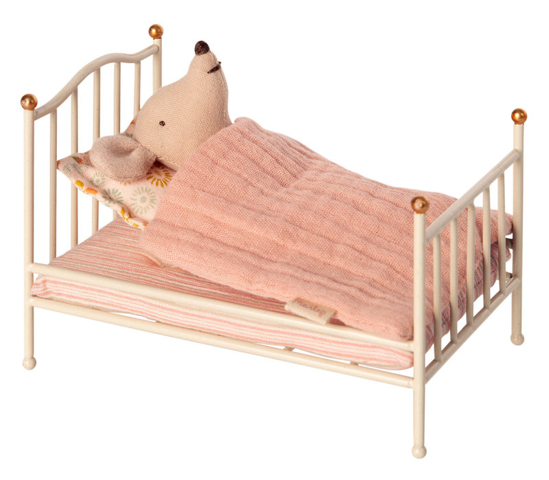 Maileg House of miniature Vintage bed mouse _ off white