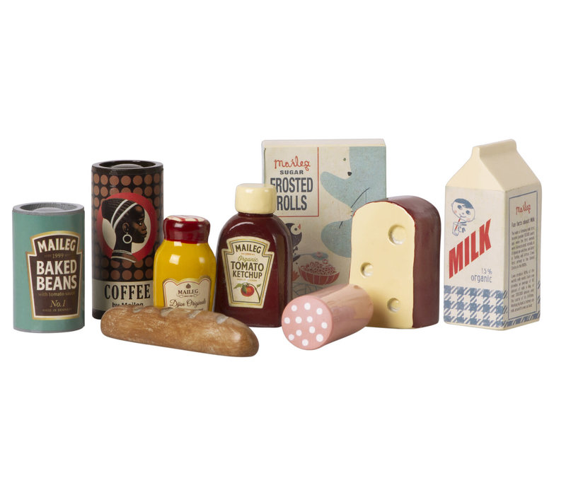 Maileg House of miniature Vintage food _ Grocery box