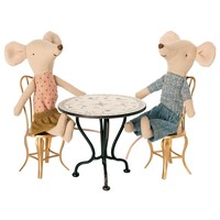 Maileg House of miniature Vintage tea table micro anthracite