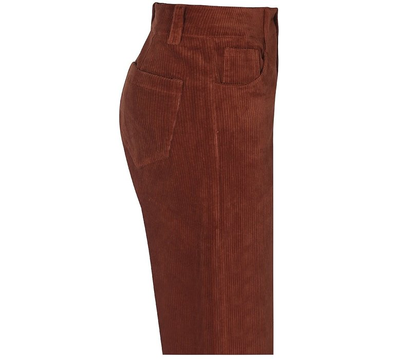 D-XEL _ NYNNE PANTS_RIB BROWN