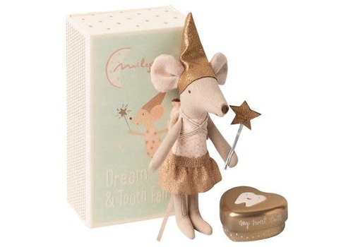 Maileg Maileg Tooth fairy, Big sister mouse w.metal box