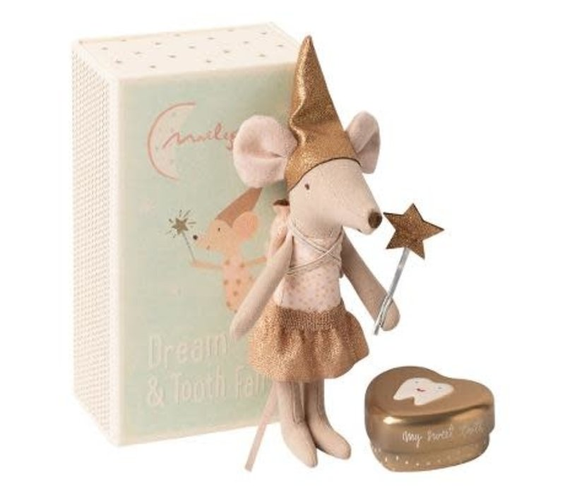 Maileg Tooth fairy, Big sister mouse w.metal box