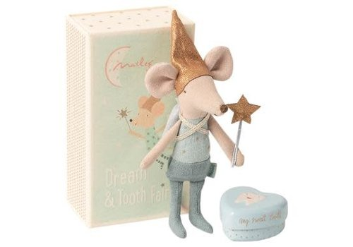 Maileg Maileg Tooth fairy, Big brother mouse w. metal box