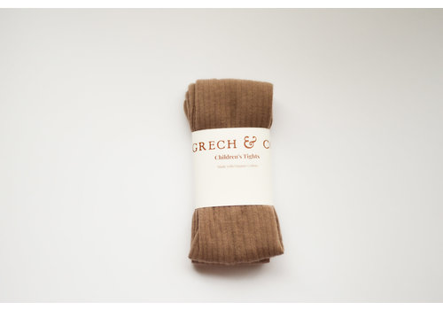 Grech & Co Grech & Co _ Children's Organic Cotton Tights_ Stone