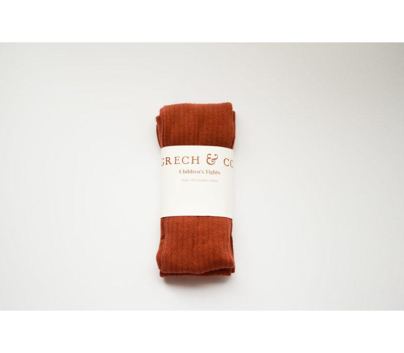 Grech & Co _ Children's Organic Cotton Tights_ Rust