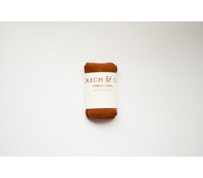 Grech & Co _ Children's Organic Cotton Tights_ Spice