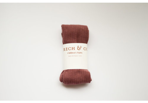 Grech & Co Grech & Co _ Children's Organic Cotton Knee Higt Socks_Burlwood