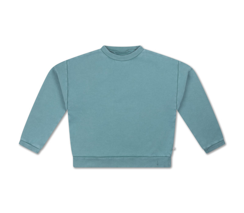 Repose AMS 12. Crewneck Sweater Greyish Sky Blue