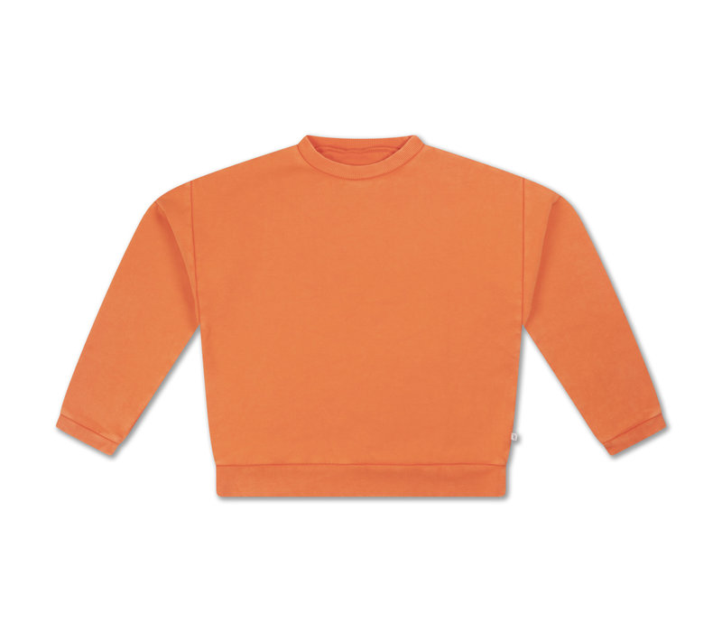 Repose AMS 12. Crewneck Sweater Washed Fire Red