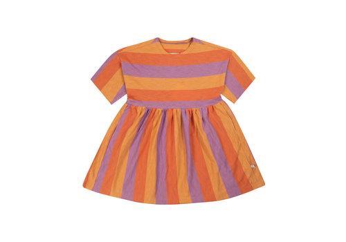 Repose AMS Repose AMS 20. Simple Dress SS Peachy Lavender Block Stripe