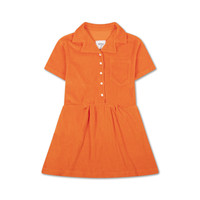 Repose AMS 25. Boxy Shirt Dress Washed Fire Red