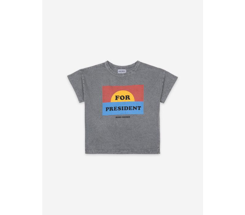 Bobo Choses For President Short Sleeve T-Shirt