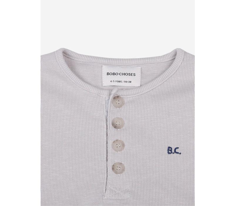 Bobo Choses Stripes Buttoned T-Shirt
