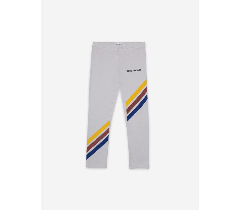 Bobo Choses Crosswise Stripes Grey Leggings