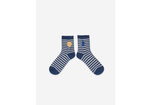 Bobo Choses Bobo Choses Blue Stripes Short Socks
