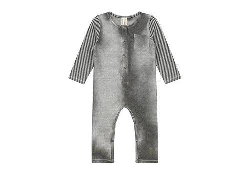 Gray Label Gray Label Baby Playsuit Nearly Black / Cream