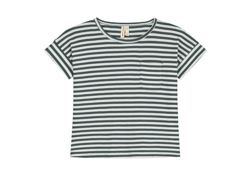 Gray Label Gray Label Boxy Tee Blue Grey / Off White