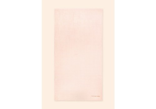TINYCOTTONS TINYCOTTONS_SS21-438 _GRID TOWEL *light cream/nut brown*