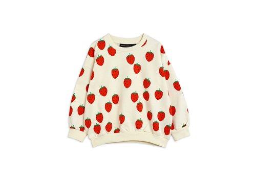 Mini Rodini Mini Rodini Strawberry aop sweatshirt Offwhite