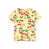 Mini Rodini Cherry Lemonade aop ss tee Yellow