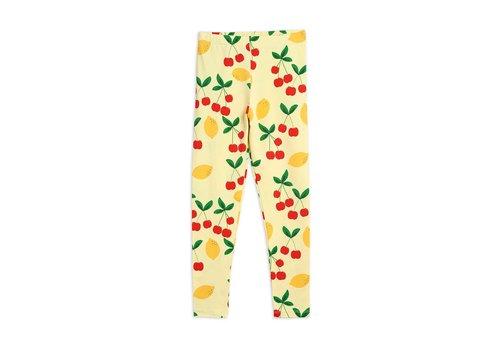 Mini Rodini Mini Rodini Cherry Lemonade aop ss Leggings Yellow