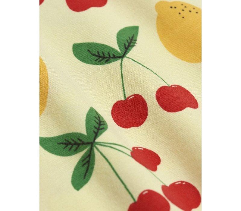 Mini Rodini Cherry Lemonade aop ss Leggings Yellow