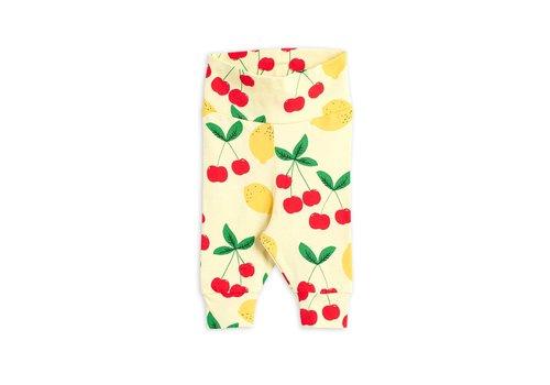 Mini Rodini Mini Rodini Cherry Lemonade aop nb Leggings Yellow